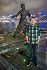 Hong Kong (hermitsmoores) Tags: travel family vacation hongkong nikon asia seasia fullframe fx brucelee overseas d800 avenueofstars nikkor2870mmf28 nikond800