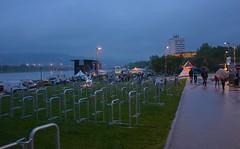 Linzfest 2014 (austrianpsycho) Tags: linz bikes bicycles openair regnerisch 2014 lentos donaupark verregnet schlechtwetter linzfest gebäude fahrräder donaulände 17052014 linzfest2014