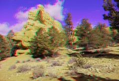 Red Canyon, Utah in 3D Red/Cyan (Edward Mitchell) Tags: 3d anaglyph stereoscopic nikon1 j1 j2 coldstreams edwardmitchell