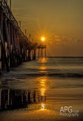Avalon Pier, Nags Head, NC (APGougePhotography) Tags: ocean sun detail beach sunrise dawn pier nikon north nagshead adobe carolina outerbanks topaz lightroom d600 adobelightroom denoise