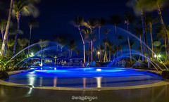 Long Exposure Pool (Lil SwagVe) Tags: vacation beauty night canon hotel long exposure aruba t3i