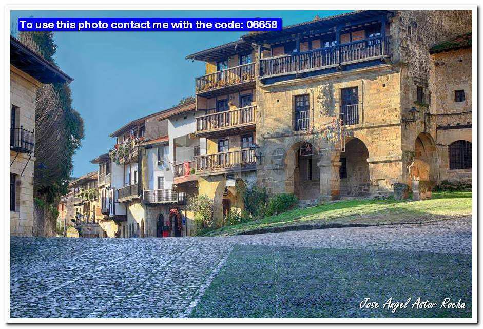 Streets Typical Of Old World Heritage Village Of Santillana Del (Jose Angel  Astor) Tags