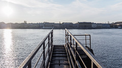 No moored ships (Suicidal_zombie) Tags: russia russie saintpetersburg stpetersburg saint petersburg autumn fall morning beautiful sun sunny awakening calm neva river water bigneva mooring facility backlight contre ajour muted colors mood atmosphere