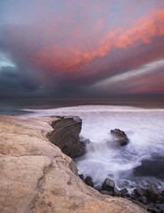 san diego : sunset cliffs park (William Dunigan) Tags: san diego sunset cliffs park ocean beach sunrise morning dawn color southern california long exposure motion blur water waves colorful clouds william dunigan sea pacific