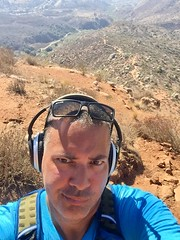 Stairway to Heaven, Huh? Um-Hmm... (Blue Rave) Tags: iphonephotography iphoneography sandiego nature trail missiontrailsregionalpark fortunamountaintrail 2016 self myself ego me bloke dude guy male mate people selfie smirk boseheadphones headphones headset path pathway california ca