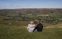 One Day (Chris Shaw - chriscross) Tags: edale kids 80d canon sigma ambition overlooking brothers green valley