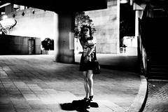 Walk in silence (emptyeyess) Tags: hongkong hk streetphotography street monochrome urban candid fujifim xpro1