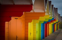 Scarborough Colour (pjbranchflower) Tags: beach colour huts scarborough yorkshire