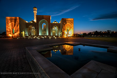 bluehour  and  mosque #oman #muscat #nikon #mosque #masjid #islam #belief #sunset #d7100 #ultrawideangle #tokina #reflection #blue (Hareeshid) Tags: nikon muscat oman mosque masjid reflection d7100 tokina ultrawideangle