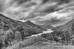 Loch Leven (seamus_0) Tags: lochleven papofglencoe scotland blackandwhite highlands stormclouds