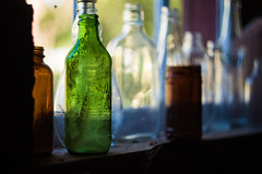 Old glass (koreybartos) Tags: mill bottles 7up soda pop glass vintage helios helios44m 44m gh4 bokeh old
