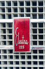 Electra 225 badge (GmanViz) Tags: gmanviz color nikon d7000 car automobile detail 1966 buick electra225 grille badge script type logo