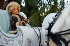 Sleigh Bells (Emily1957) Tags: sleigh sleighbells lizfrost toys toy dolls doll light naturallight nikond40 kitlens resin plastic metal winter bjd portorfordcedar