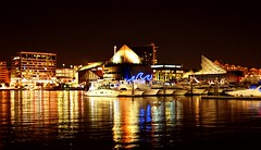 Baltimore, MD (RASH Photography....) Tags: port baltimore outdoor maryland water ocean sea architecture night photography light