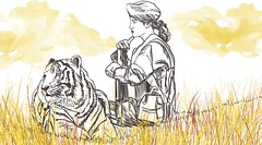 tigers 2 (milazayakina) Tags: illustration graphics draw drawing war woman unwomanly tiger hate