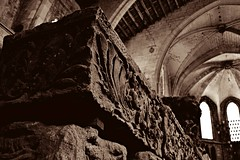 The echo of silence (... Alicia H. Trtoles) Tags: graves tombs silence history archaeology france narbona narbonne tombstones tumbas cementerio museum muse museo lapidarymuseum lapidary mourglier church ancient muselapidaire historia arqueologa francia silencio sepia sepiacolor