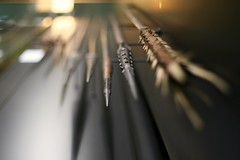 The Sharp End (Jeff with a J) Tags: spears weaponry dof bokeh bokehlicious museum toulouse abstract perspective