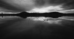 november (Keith Midson) Tags: lake sunrise canberra clouds reflection water still calm tranquil
