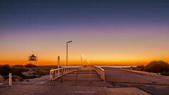 Semaphore Jetty at Dusk (johnwilliamson4) Tags: 10secexposure blue jetty lifeguardtower semaphore sky sunset water orange southaustralia australia