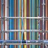 Jupe fendue (Gerard Hermand) Tags: 1612025561 gerardhermand france paris canon eos5dmarkii formatcarré ladéfense raymondmoretti cheminée chimney tube pipe couleur colour color échafaudage scaffolding voile cloth