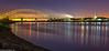Sunset reflections (2 of 2) (andyyoung37) Tags: reflections runcorn runcornbridge stmaryschurch uk cheshire rivermersey sunset england unitedkingdom gb