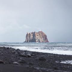 Mystery island (haelio) Tags: cameracanon5d2 flong italy square stromboli strombolicchio volcano sicily tyrrhenian sea island seascape sand