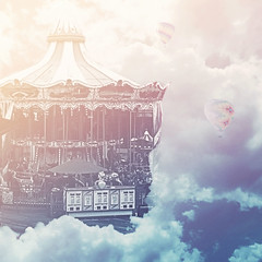 Castle on a Cloud (Karissa Selby) Tags: le miserables mis castle cloud bioshock infinite carousel hot air balloon clouds video games