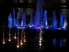 Fountains at night, Plac Szczepaski, Krakow (stephengg) Tags: krakow cracow poland fountain blue water night light plac szczepaski