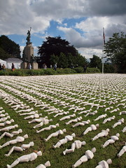 19,240 Shrouds of the Somme (ExeDave) Tags: p7031593 19240 shroudsofthesomme northernhay gardens exeter sw england gb uk battleofthesomme firstday art artist robheard worldwar1 wwi battle thegreatwar commemoration memorium foundation july 2016 100th anniversary city urban park greenspace war memorial