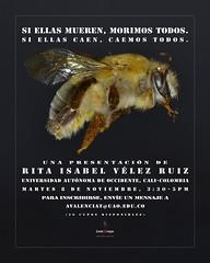 Abejas: si ellas mueren morimos todos (Alejandro Valencia Tobn) Tags: abejas bee bees uao universidadautnomadeoccidente cali colombia ecologa ecology art science