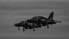 Hawks Landing (devil=inside) Tags: raf valley aircraft jets fighter wales anglesey landing airport aviation handphotography sony a77 bw monochrome