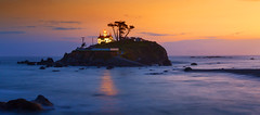 Battery Point Lighthouse at Sunset ,Crescent City, CA (Sveta Imnadze) Tags: landscape seascape pacificocean california pacificcoast crescentcity batterypointlighthouse sunset reflection