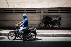 Saigon 03 (arsamie) Tags: saigon ho chi minh ville city vietnam viet nam street motorbike scooter blue helmet sleep nap shadow light sun road phu nhuan district asia