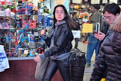 Times Square Mid-November 2016 (zaxouzo) Tags: timessquare street candid fashion people public night nikond90 2016 november leather