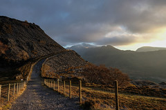 Llanberis Dusk (dilys_thompson) Tags: slate quarry llanberis northwales wales path walk snowdonia dusk mountains sky winter winterwalk