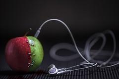 apple (jdewinnaar) Tags: macromondays stitch lowkey sigma canon apple music tunes 5dmkii depthoffield bokeh naturallight oneaday dark gloom