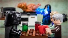 """Dinner is almost ready..."" Happy Thanksgiving #LEGO #STARWARS (Alan Rappa) Tags: darthvader hansolo kyloren lego legominifigures legophotography princessleia sonya6300 starwars thanksgiving theforceawakens toyphotography toys tweetme"