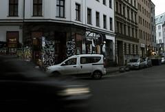 Oranienstrasse, Kreuzberg, Berlin (lady_barbona) Tags: berlin kreuzberg oranienstrasse street streetart urban alternative graffiti shop piazza architecture house