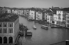 Grand Canal, near Rialto Bridge, Venice, Italy, Nikon D40, Sigma 18-50mm EX DC, 11.23.16 (steve aimone) Tags: grandcanal architecture architecturalforms canal rialto venice italy nikond40 sigma1850mmexdcmacro blackandwhite monochrome monochromatic river cityscape