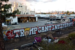 Trump Cant Intimidate (Up in the Valley) Tags: streetphotography classstruggleinlosangeles vannuys upinthevalleyorg whitefavela hopes apathy graffitiartistslosangeles