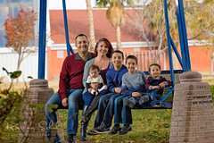 Family of six (KarinaSchuh) Tags: alamogordo baby boys familyphotography fun individuals kids newmexico newmexicophotographer oterocounty outdoor outdoorphotographer outdoorportraiture portraiture babygirl dad fall2016 fallfamilysession familyportraits leaves mom parents siblings