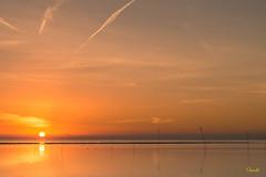 Sunset over the sea (Onascht) Tags: photoart meer küste wasser lichtstimmungen mood silence nordsee sea cuxland onascht sonnenuntergang northsea sunset water digitalart nikon dorum d610
