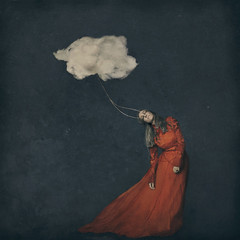fiber clouds (brookeshaden) Tags: brookeshaden fineartphotography conceptualphotography selfportraiture
