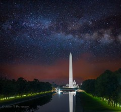 Washington, DC Monuments & Milky Way (Jerry T Patterson) Tags: wdc washingtondc districtofcolumbia nationscapital us capital uscapital milkyway astrophotoraphy lincoln lincolnmonument wwiimemorial washingtonmonument monument memorial iwojima whitehouse