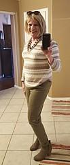 Skinny jeans, booties and hoodie (krislagreen) Tags: tg tv transgender transvestite cd crossdress skinnyjeans booties hoodie blond tan brown femme feminized feminization