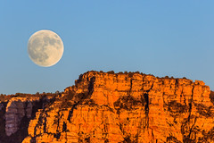 Hunters Moonrise (Carl Cohen_Pics) Tags: fall fantasticnature fullmoon red redrocks huntersmoon moon moonrise sedona arizona autumn dusk airportmesa canon evening nature naturephotography wow