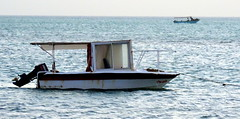 Wait For No Man (Khaled M. K. HEGAZY) Tags: nikon coolpix p520 rassedr egypt nature outdoor closeup blue brown white black sea redsea water boat