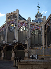 The ornate Mercado Central in Valencia (Fuji X100S) (markdbaynham) Tags: street city urban valencia spain fuji market central x espana spanish espanol trans ornate sensor mercat mercad x100s