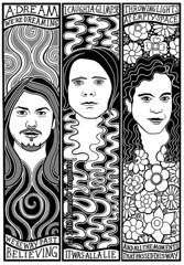 Dreaming Of Dreaming Page 10 (Masonic Boom / Karen D. Tregaskin) Tags: flowers musicians comic band artnouveau graphicnovel swirls secretmachines brandoncurtis joshgarza philkarnats dreamingofdreaming