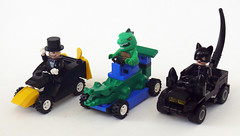 Animal Racers (Oky - Space Ranger) Tags: animal cat penguin dc lego amphibian super killer crocodile batman croc heroes racers universe creature catwoman
